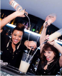 hire a female cocktail bartender London