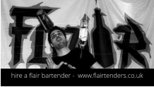 hire a flair bartender -  www.flairtenders.co.uk