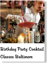 birthday party mixology classes Baltimore